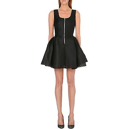MAJE Perforated neoprene dress (Black