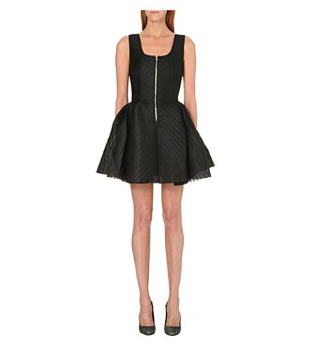 MAJE Perforated neoprene dress (Black