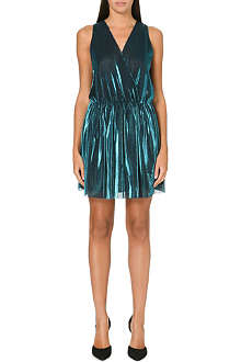 MAJE Guyane metallic dress