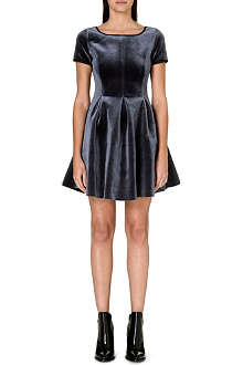 MAJE Velvet fit and flare dress