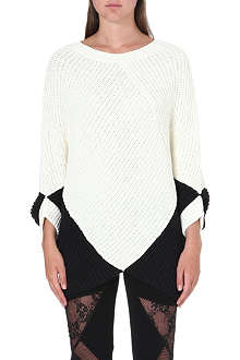 MAJE Two-tone textured jumper