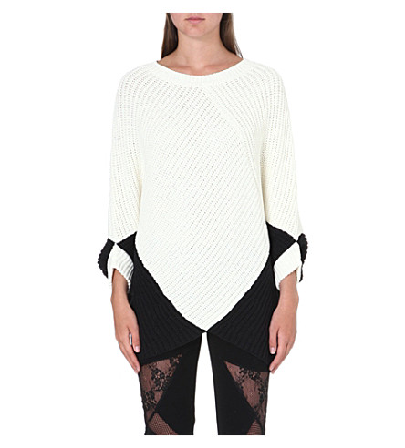 MAJE Two-tone textured jumper (Ecru