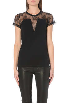 MAJE Lace panel t-shirt