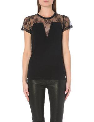 MAJE Lace panel t-shirt