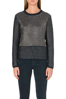 MAJE Metallic thread jumper