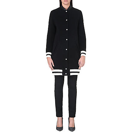 MAJE Longline bomber jacket (Black