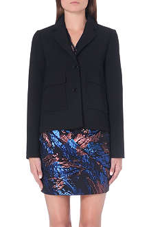 MAJE Stretch-crepe jacket