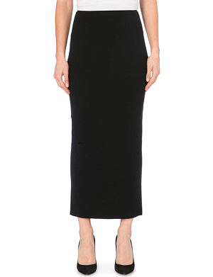 MAJE Wool midi skirt