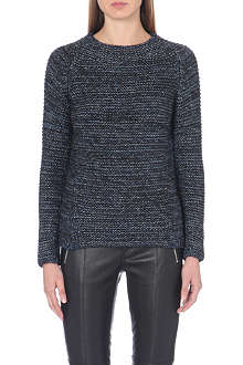 MAJE Metallic-knit jumper