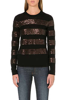MAJE Sequinned wool jumper
