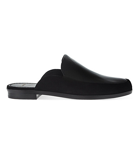 MAJE Flore leather and suede mules (Black