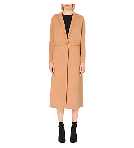 MAJE Galaxie wool-blend coat (Camel