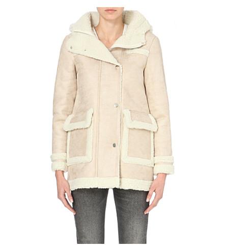 MAJE - Gazelle faux-shearling coat | Selfridges.com