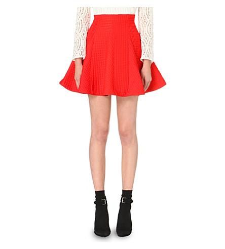 MAJE Jamila jacquard skirt (Orange