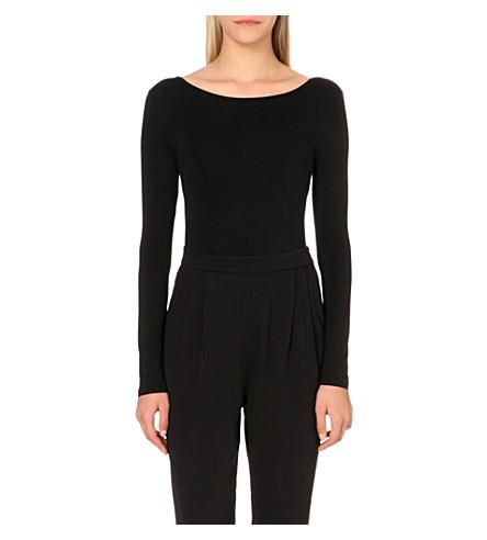 MAJE Magiciene cotton-blend body (Black