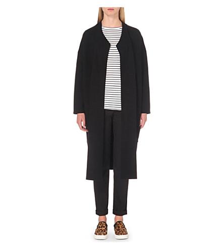 MAJE Milano oversized coat (Black