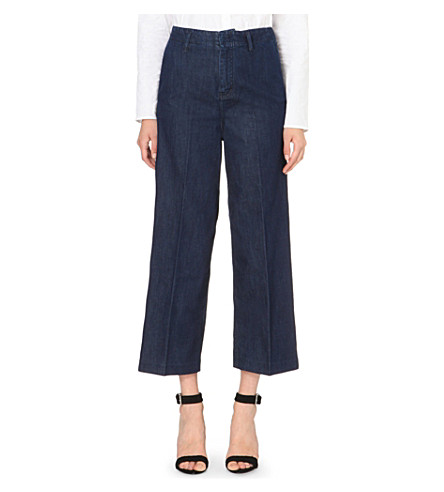 MAJE Patty wide-leg high-rise jeans (Denim