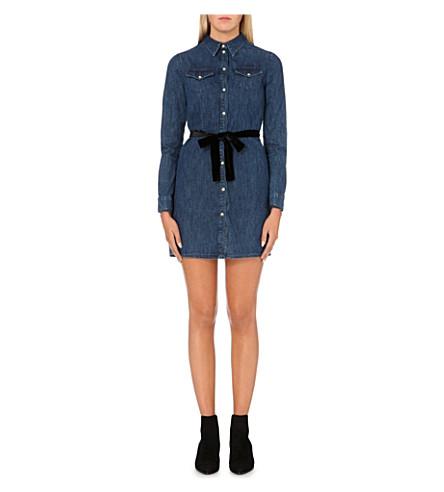 MAJE Ralexa denim shirt dress (Denim