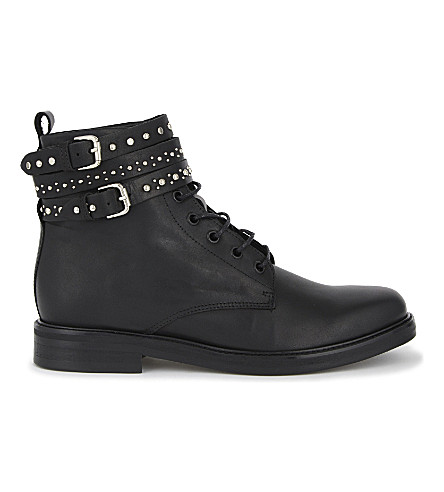MAJE Flint leather boots (Black