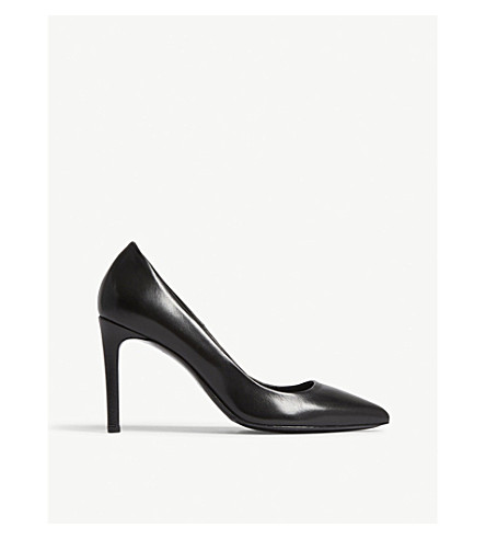 MAJE Freya leather courts (Black