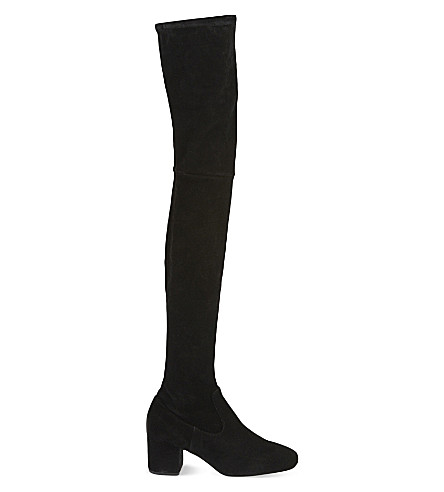 MAJE Fuisy suede over-the-knee boots (Black
