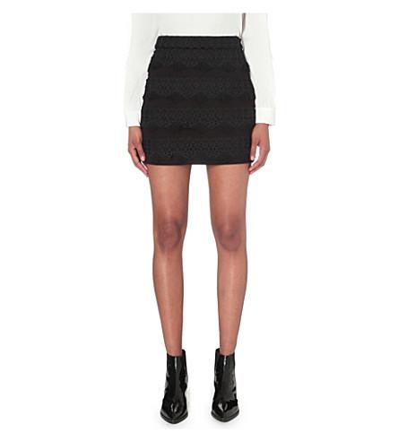 MAJE Joe neoprene skirt (Black