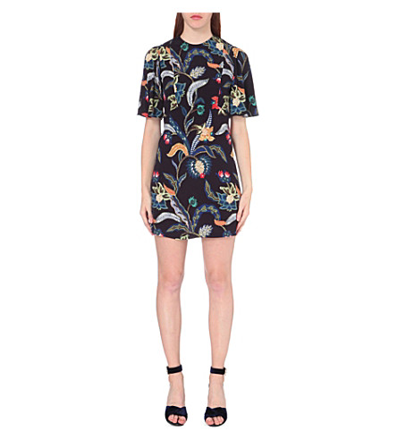 MAJE Rimbaud floral-print crepe dress (Imprime