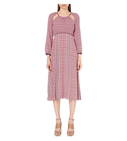 MAJE Robyn cutout-detail crepe dress (Imprime
