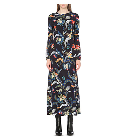 MAJE Rousseau baroque-print crepe dress (Imprime