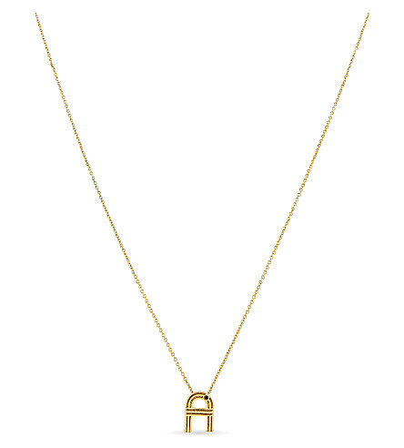 MAJE 'A' pendant necklace (Gold