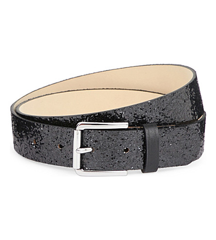 MAJE Aster glittered belt (Black+210