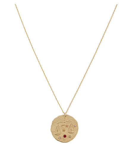 MAJE Libra zodiac coin necklace (Gold