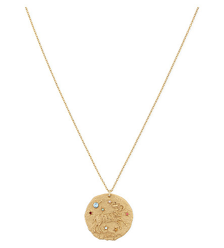 MAJE Aries zodiac sign necklace (Gold