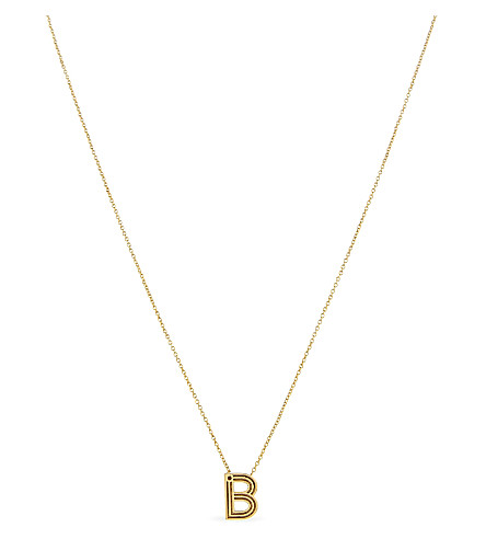 MAJE 'B' initial pendant necklace (Or