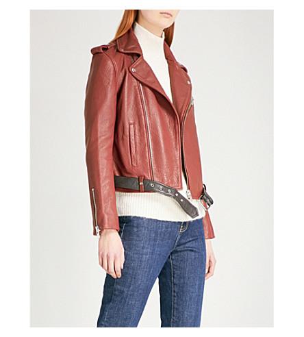 MAJE Bixente leather jacket (Bordeaux