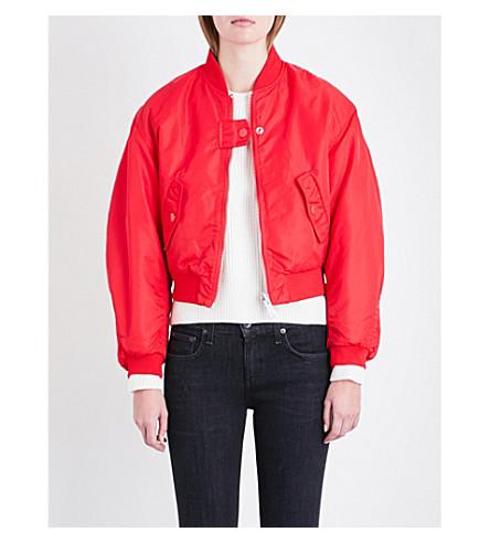 MAJE Maje x Schott Brooklyn reversible shell bomber jacket (Red