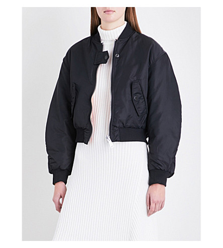 MAJE Maje x Schott Brooklyn reversible shell bomber jacket (Black+210