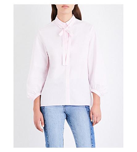 MAJE Carlota cotton-poplin shirt (Pink