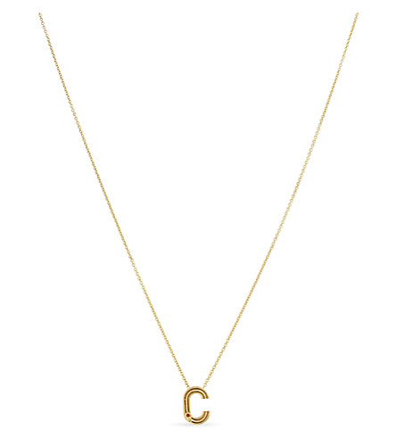 MAJE 'C' initial pendant necklace (Gold
