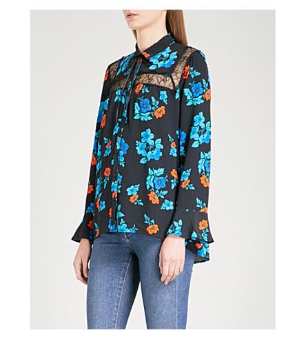 MAJE Cirque crepe shirt (Imprime