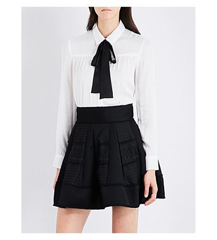MAJE Colette woven shirt (Ecru