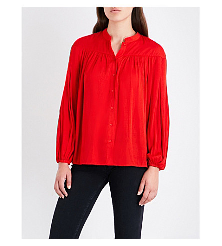 MAJE Cusmia satin shirt (Red