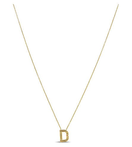 MAJE 'D' initial pendant necklace (Gold