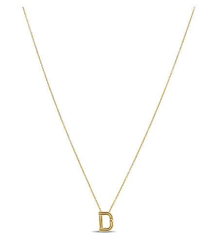 MAJE 'D' initial pendant necklace (Or