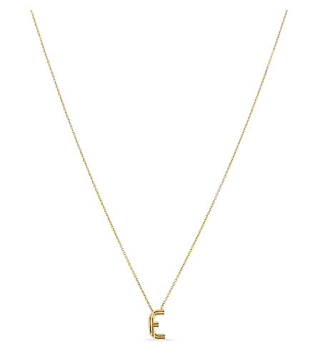 MAJE 'E' pendant necklace (Gold