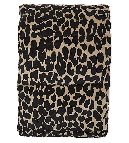 MAJE Padded leopard print cotton scarf (Printed