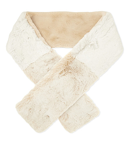 MAJE Two-tone faux-fur scarf (Two-tone