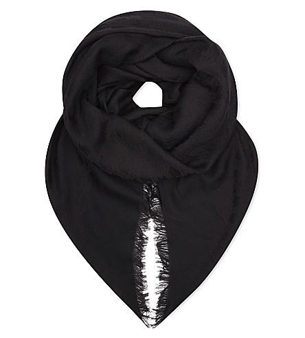 MAJE Cotton-blend scarf (Black+210