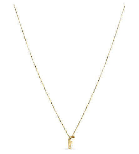 MAJE 'F' pendant necklace (Gold