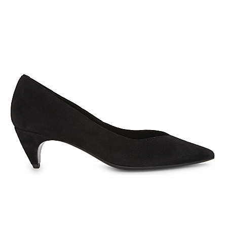 MAJE Suede court shoes (Black+210